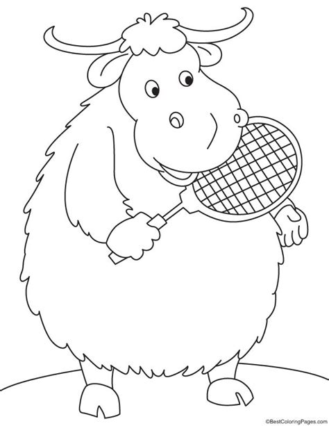 coloring page of a yak yak talk coloring page download free yak talk coloring