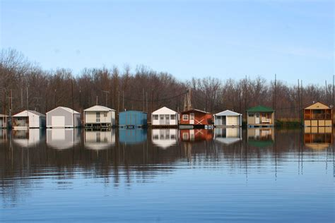 boathouse winona boathouses on the mississippi river at winona mn photo by