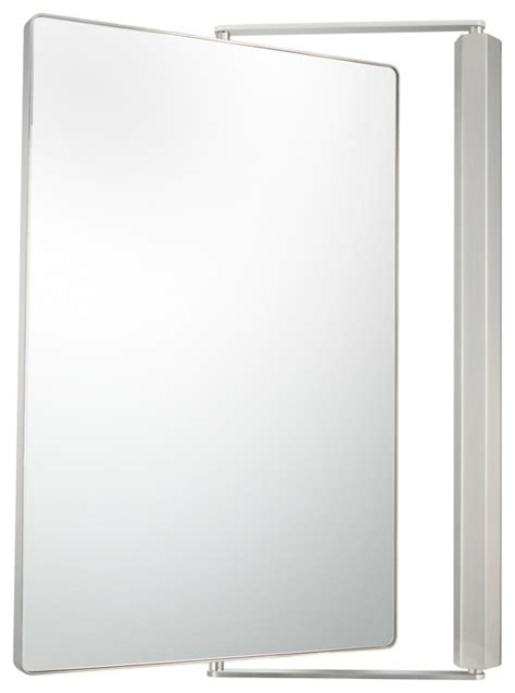 Pivoting Bathroom Mirror Metro Pivot Mirror With 1x And 1x Magnification Brushed Nickel Modern Bathroom Mirrors By