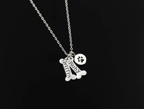 paw necklace pet jewelry personalized by