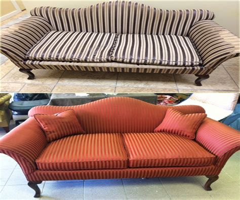 How To Reupholster A Chaise Lounge Furniture Take Apart Disassembly Couch Before And After