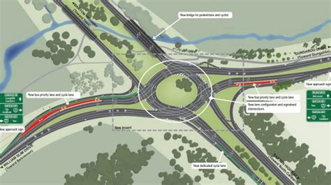 design that works with traffic the horseshoe or u shaped barton highway roundabout canberra s worst intersection
