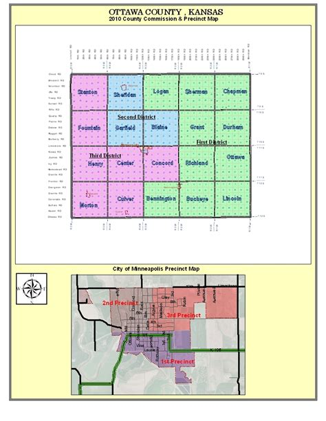 Ottawa County Records Ottawa County Kansas Gt Elected Officials Gt Commissioners Gt District Map