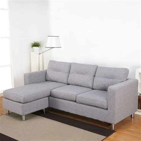Faux Leather Sectional Sofa With Reversible Chaise Lounge Faux Leather Sectional Sofa With Chaise