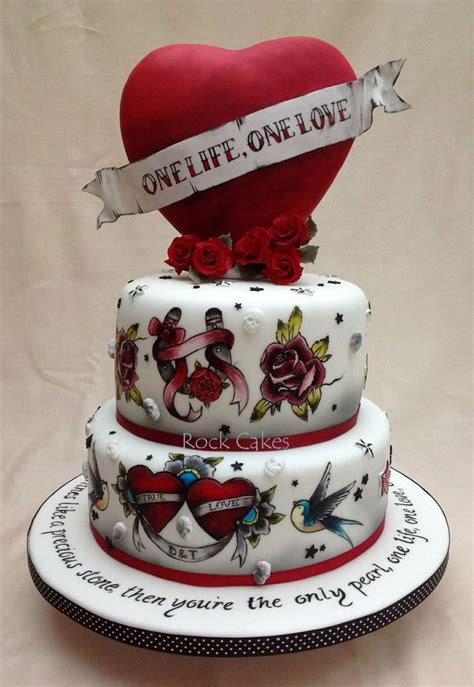 tattoo cake wedding cake rockabilly wedding