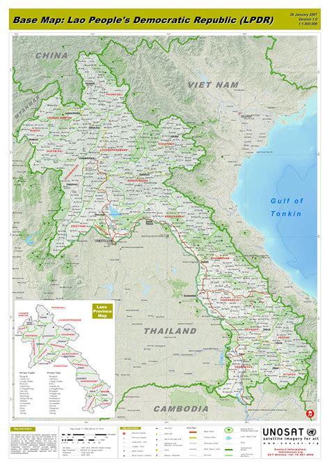 map of laos maps laos maps