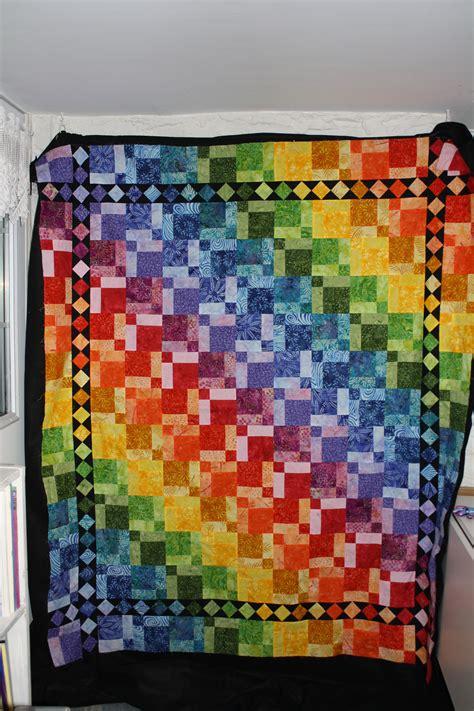 quilt pattern rainbow rainbow quilts on pinterest rainbow quilt log cabin