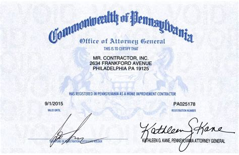 Nj Home Improvement License Mr Contractor Inc