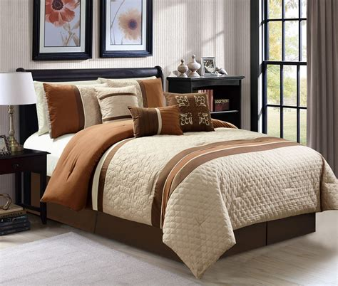 Cali King Bedding by 7 Pc Cal King Size Quartrefoil Quilted Coffee Taupe