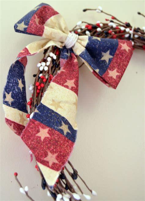 fabric crafts quick and easy patriotic wreath sugar bee crafts