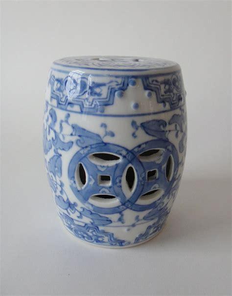 large white ceramic garden stool vintage asian ceramic mini garden seat stool