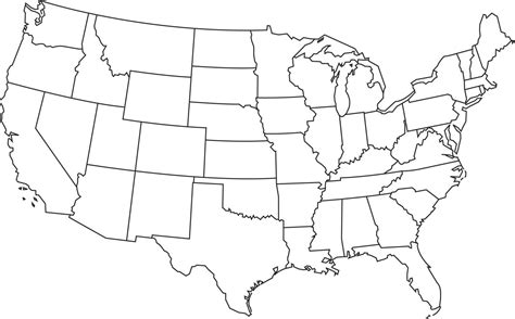 united states outline map numbered these are the most and least stressed states in the us