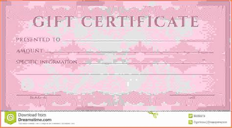 free gift certificates templates download 173 free gift certificate