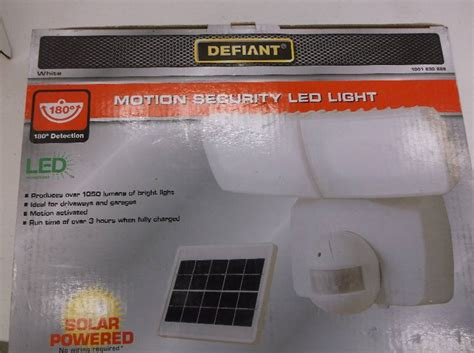 defiant led solar powered motion security light with