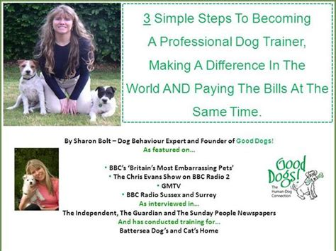 how to become a professional dog trainer in 3 simple steps
