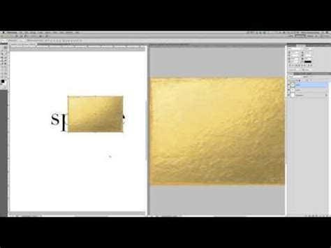 tutorial photoshop gold creating gold foil text in photoshop a video tutorial
