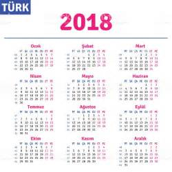 Calendar 2018 Free Vector Turkish Calendar 2018 Stock Vector 700381828 Istock