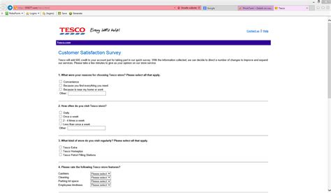 Online Customer Survey - special reward for tesco customers phishing my online security