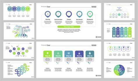 free templates with slider ten business slide templates set vector free
