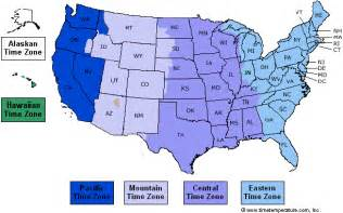 Usa Timezone Map by Maps United States Map Time Zone