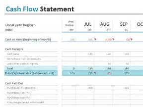 free flow statement template excel flow statement office templates