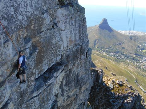 table mountain climbing climbing table mountain in south africa
