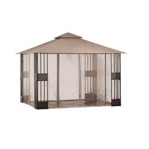 Home Depot Patio Gazebo Hton Bay Gazebos 12 Ft X 10 Ft Gazebo With Mosquito Netti