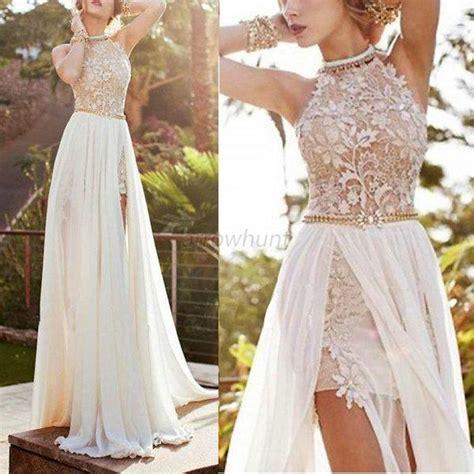 Vins Dress Hq lace chiffon bridesmaid evening formal