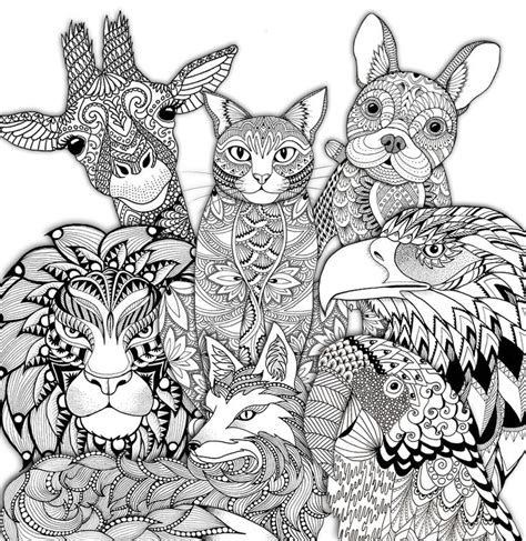 zoo coloring pages for adults 1070 best images about adult colouring animals zentangles