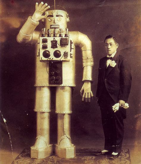 film robot humanoide yasutaro mitsui japanese robot 1930 s the invisible