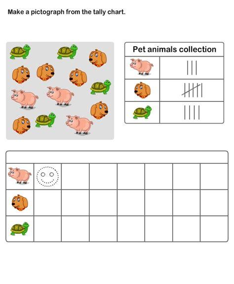 printable pictograph worksheets for kids kindergarten
