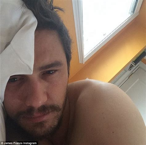 bed selfie james franco shirtless in selfie day after calling