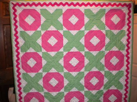 Hugs And Kisses Baby Quilt by Baby Quilt Baby Hugs And Kisses Magenta Green Quilt