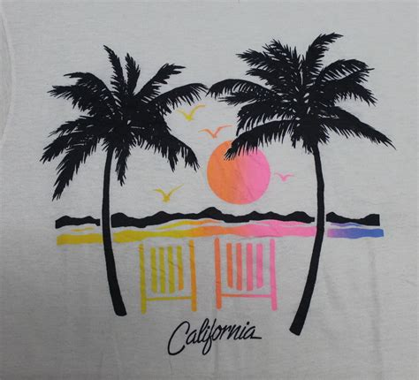 Kaos Vintage Apparel 5 Oceanseven vintage 80s hawaii california aloha t shirt surf