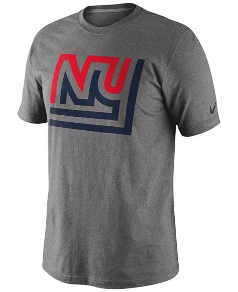 Sweater Logo Nike Keren nike s new york giants retro oversized logo t shirt in gray for lyst