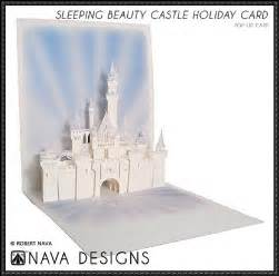 castle pop up card template papercraftsquare sleeping castle pop up card