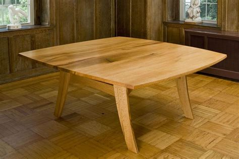 handmade oak dining table by fredric blum design