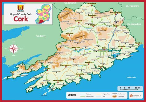 county cork ireland map cork county map 4schools ie student diaries student