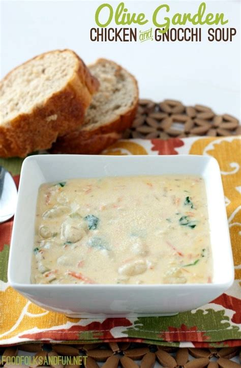 Olive Garden Recipes by Olive Garden Chicken And Gnocchi Soup Copycat Recipes