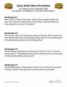 simple math word problems worksheet education com