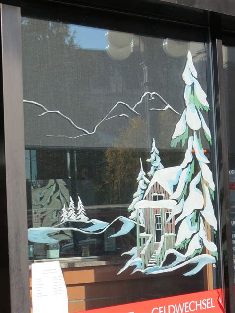 window painting signs christmas holiday seasonal artist destination mike christmas window paintings