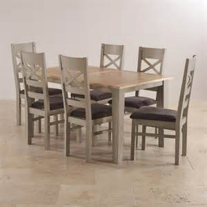 Painted Dining Table And 6 Chairs St Ives Grey Painted Dining Set Extending Dining Table