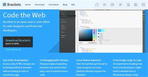 layout editor source code brackets an open source code editor for the web design