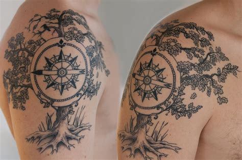 tattoo compass shoulder compass tattoos and designs