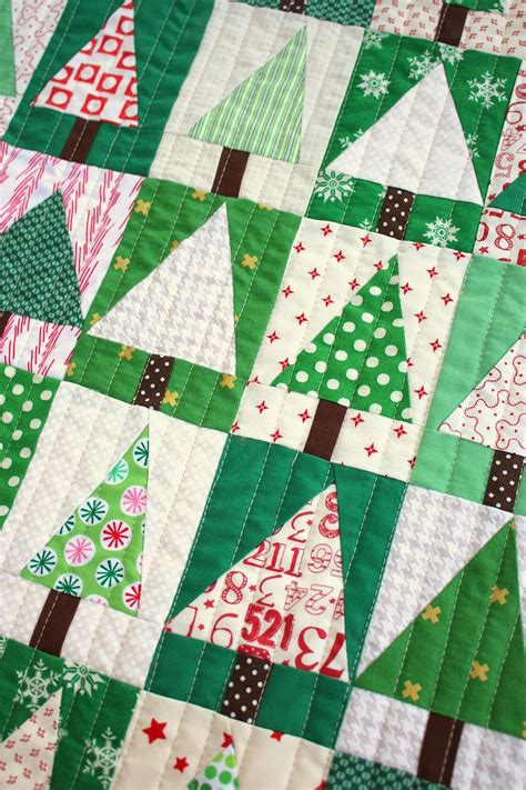 Patchwork Block - patchwork tree quilt block tutorial diary of a quilter