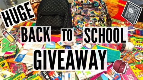 Giveaway For Youtube - back to school giveaway youtube