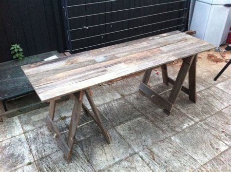 Trestle Fence Two Metre Timber Trestle Table Made From