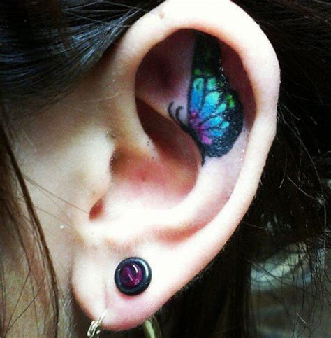 inner ear tattoo designs 55 best ear tattoos designs and ideas