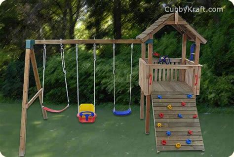 cubby house swing set why swings are important for your child s development
