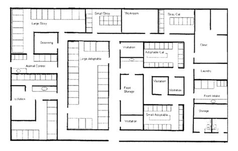 layout of animal house noise in the animal shelter environment building design